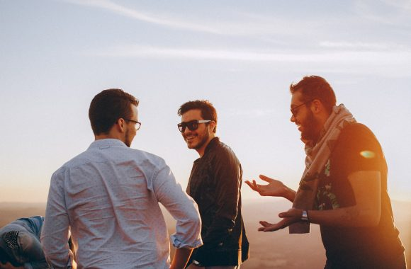 Men Talking On Men's Retreat
